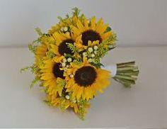 sunflower wedding bouquet ideas