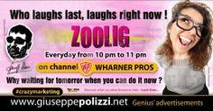 giuseppe polizzi ZOOLIG crazy marketing genius  2017 ing #crazymarketing #giuseppepolizzi #right #wait #tv #show #channel