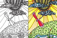Abstract Doodles: Missing the Sunshine...