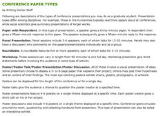 Types of Conference Papers - From Claremont University