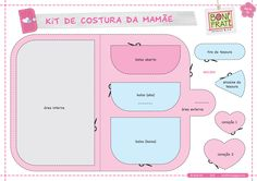 Cute sewing kit! BoniFrati Blog: Mommy's Sewing Kit (with mold) - in Portuguese. Translate mostly with google translate or bing, nice diagrams though, you can understand with out the translation too.