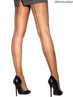 2c326228e Cecilia de Rafael Sevilla Chic 15 Denier Seamed Back Seam Glossy Pantyhose. Hold  Up ...