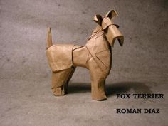 Origami fox terrier by Roman Diaz - YouTube