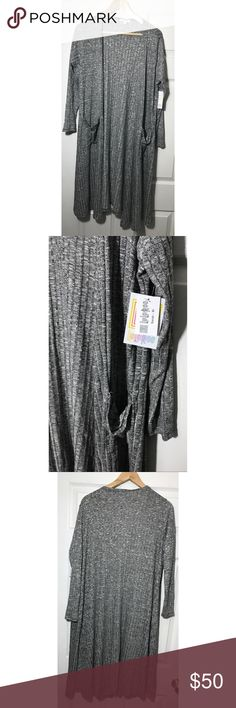 LulaRoe Sarah black white print long cardigan NWT - black white print - pockets LuLaRoe Jackets & Coats