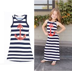 New arriving For summer Mother and Children's Cotton Dresses Casual Striped Sleeveless Dresses