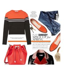 """""""Unlock The Orange"""" by monmondefou ❤ liked on Polyvore featuring Michael Kors, RED Valentino, CB2, Citizens of Humanity, T By Alexander Wang, UGG Australia, Fall, red and orange"""