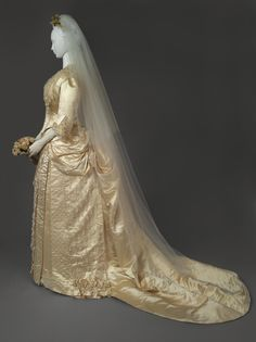 Philadelphia Museum of Art - Collections Object : Wedding Dress: Two Bodices and Skirt. 1888