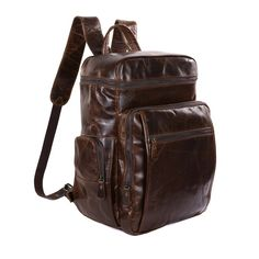 115.33$  Watch here - http://alik7h.worldwells.pw/go.php?t=1839255484 - Cowboy 100% Vintage Genuine Leather Coffee Fashion Casual Backpacks Travel Bags 7202C