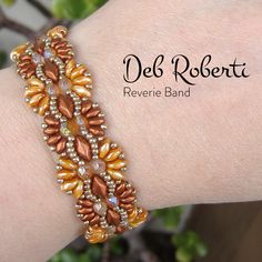 Reverie Band beaded pattern tutorial by Deb Roberti