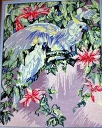 Cockatoo's tapestry Cockatoo, Folk Art, Tapestry, Painting, Hanging Tapestry, Tapestries, Popular Art, Painting Art, Paintings