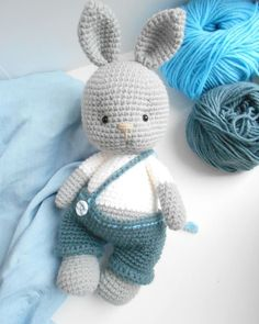 44 Awesome Crochet Amigurumi For You Kids for 2019 - Page 39 of 44 Crochet Cow, Crochet Rabbit, Cute Crochet, Crochet Dolls, Crochet Animal Patterns, Stuffed Animal Patterns, Crochet Patterns Amigurumi, Crochet Mignon, Knitted Animals