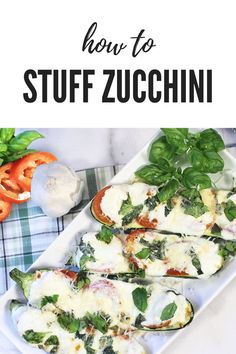 Learn how easy it is to stuff zucchini with just about anything. These zucchini boats are stuffed with all your favorite flavors of a margherita pizza – fresh tomatoes, basil, mozzarella and parmesan. They make a great low carb side dish, an appetizer or even a hearty main dish. #stuffedzucchini #zucchiniboatsrecipe #Italianstuffedzucchini #easyrecipe #lowcarb #sidedish #2CookinMamas Low Carb Side Dishes, Main Dishes, Recipes For Newlyweds, Zucchini Boats, Easy Party Food, Everyday Dishes, Favourite Pizza, Cooking 101, Easy Meals
