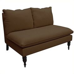 Skyline Furniture Armless Love Seat in Chocolate *** Check this awesome product by going to the link at the image.