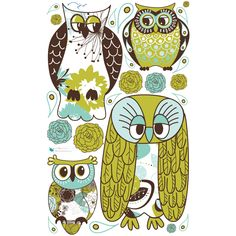 Artsy Owls Wall Decals by WallsNeedLove on Etsy