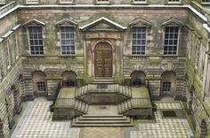 The Palladian courtyard at Lyme Park, Cheshire