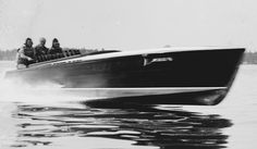 1912…Pretty Dam Quick II owned by A. G. Miles testing at speed on the St. Lawrence River just off Alexandria Bay. Winner of the 1912 Gold Cup at 36.8 MPH