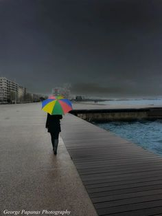 Colours of the Boardwalk, Thessaloniki Macedonia in northern Greece