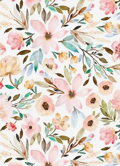 Watercolor floral design by indybloomdesign watercolor flower background, watercolor floral wallpaper Watercolor Wallpaper, Flower Wallpaper, Pattern Wallpaper, Watercolor Flowers, Wallpaper Backgrounds, Fabric Wallpaper, Painting Flowers, Floral Watercolor Background, Watercolor Design