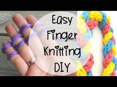Know how to finger knit? This is cool! – How Does She