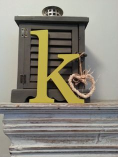Handpainted Wooden Wall Letter - 'k' - New Times Roman - lowercase