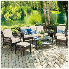 Wilson & Fisher® Barcelona Resin Wicker 6-Piece Seating Set at Big Lots.