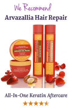Advanced Hair Repair Shampoo and Conditioner Set with Argan Oil and Macadamia Oil by Arvazallia - Sulfate Free Shampoo, Conditioner, and Deep Conditioner Hair Mask System for Dry or Damaged Hair Hair Repair Shampoo, Shampoo For Curly Hair, Sulfate Free Shampoo, Keratin Hair, Moisturizing Shampoo, Argan Oil Mask, Argan Oil Hair Treatment, Good Shampoo And Conditioner, Hair