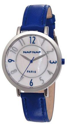 NAF NAF DAMESHORLOGE DIANNA EDELSTAAL/ BLAUW Elegant Watches, Fashion Watches, Shop Now, Stainless Steel, Clocks, Accessories, Star, Bangle Bracelets