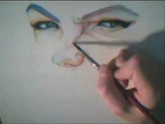 Speed painting Watercolour portrait