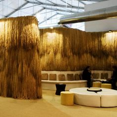 The HSBC Private Bank lounge designed by Humberto and Fernando Campana for Design Miami 2008.