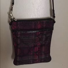 """Coach Tartan Plaid Crossbody Cute tartan plaid crossbody bag Pre owned condition, please look at all pics, some marks inside but still a very usable bag! Approx 7"""" wide X 8"""" tall Comes from a smoke and pet free home Coach Bags Crossbody Bags"""