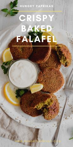 What's not to love? Crispy on the outside, soft on the inside, baked, healthy AND vegetarian! These crispy baked Falafel are everything you could hope for so you don't have to feel guilty after having seconds. Healthy Recipes, Clean Eating, Healthy Eating And Cooking, Vegan Recipes, Best Recipes, Healthy dinner recipes, Middle eastern recipes, Breakfast Recipes, Easy and Healthy Breakfast Ideas, healthy vegetable recipes! #recipes #vegetables #healthyrecipes