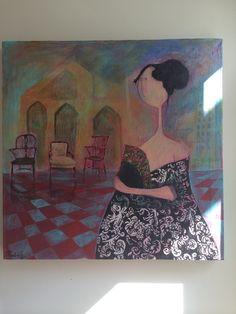 Pintura 50 x 50 Paula Cifuentes
