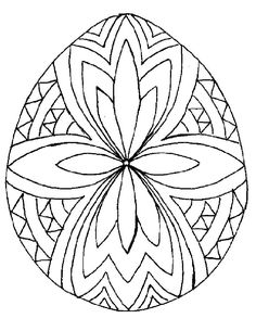 Easter Egg Design Coloring Pages