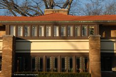 Frank Lloyd Wright, Edward Irving House, Decatur, Illinois, 1909. Construction supervised by Marion Mahony and HeRmann von Holst.