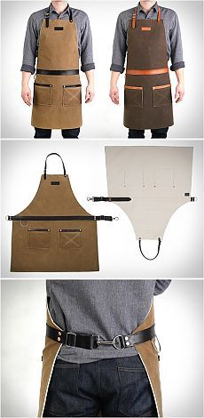 Men's HardMill aprons (selection) \/ Man's fashion \/ the hands - patterns, alteration of clothes, an interior decor the hands - from Second Street // Альбина Чернецова Cafe Apron, Shop Apron, Leather Fashion, Mens Fashion, Barber Apron, Restaurant Uniforms, Work Aprons, Leather Apron, Apron Designs