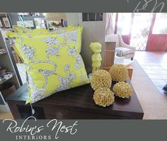 Style your home with our beautiful range of scatter cushions and assorted ceramic ornaments from Contact Robins Nest on 044 874 5336 or visit us in store for more information and prices. Scatter Cushions, Throw Pillows, Interior Photo, Robins, Nest, Range, Ceramics, Ornaments, Store