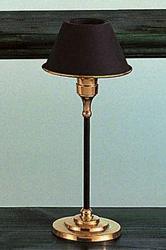 Brass/Black Mini Lamp with Black Metal Shade