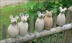 There's a mouse in the house Pottery Animals, Ceramic Animals, Clay Animals, Cement Art, Cement Crafts, Clay Crafts, Ceramic Clay, Ceramic Pottery, Paper Mache Animals
