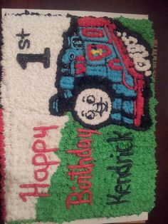 Thomas the train cake we made