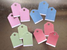 Gingham Assorted Gift Tags 12 Pack by LYHHandmadeGifts on Etsy Love Your Home, Gingham, Gift Tags, I Shop, Baby Shoes, Packing, Trending Outfits, Unique Jewelry, Handmade Gifts