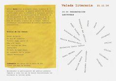 """Programa de la velada literaria """"Escribir para contarla"""" del grupo Letras Bernáculas, realizada en Berna el 21 de noviembre de 2014."""