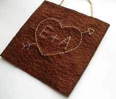 Faux Bois Heart (embroidery)