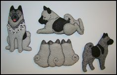 norwegian elkhound embroidering pattern - Google Search