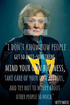 Betty White, Preach!