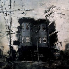 Kai Fine Art is an art website, shows painting and illustration works all over the world. Watercolor Landscape, Abstract Landscape, Landscape Paintings, Urban Painting, Painting & Drawing, Ville New York, Fine Art, Urban Landscape, Urban Art