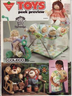 1980s Childhood, My Childhood Memories, 1980s Toys, Retro Toys, 80s Kids, Kids Tv, Toy Catalogs, Canadian Tire, Cabbage Patch Kids
