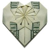 Decorative Money Origami Heart: Video Tutorial and Picture Instructions Homemade Valentines, Homemade Christmas Gifts, Homemade Gifts, Valentine Gifts, Christmas Fun, Origami Design, Origami Easy, Origami Paper, Origami Boxes