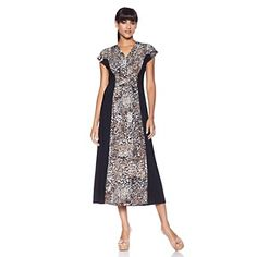 IMAN Global Chic Elegant Glamour So Slimming Colorblock Maxi at HSN.com.