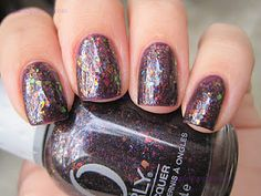 """Orly's """"Fowl Play"""", with a flaky top coat as well."""
