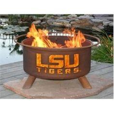 LSU Tigers Louisiana State University Portable Steel Fire Pit Grill